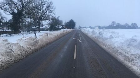 Farmers have been back out clearing the A140 between Pulham Marekt and Long Stratton on Saturday mor