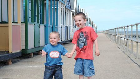 Zach and Leo Adams at Southwold