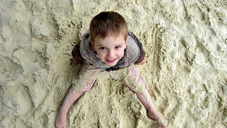 Leo in the sand