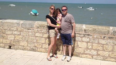 Natalie Sadler on holiday in France with her family