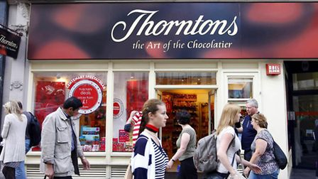 Thorntons today announced improved sales for its own chain of stores.