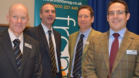 Frontier Agriculture's 3D Thinking seminar at the John Innes Centre. Pictured from left: David Robin