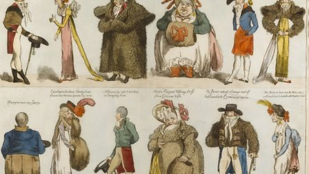 Prints in the satire exhibition at Gainsborough's House