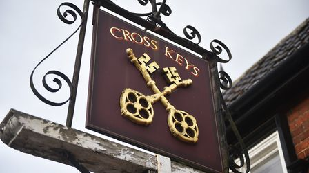 The Cross Keys pub in Redgrave has reopened after it was saved by the community. Picture: ANTONY KEL