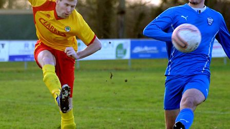 Walsham Le Willows entertain Brantham Athletic at Summer Road Jack Brame shoots