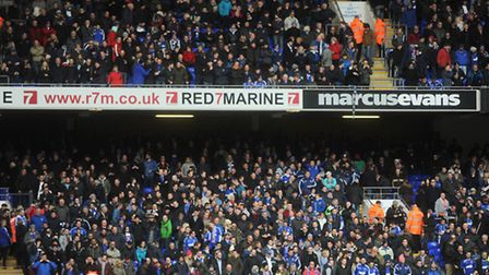 Ipswich Town fans, pictured during Saturday's 1-0 home defeat to Derby County