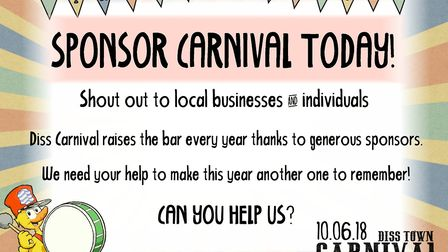 Diss Carnival is appealing for sponsors. Picture Diss Town Council