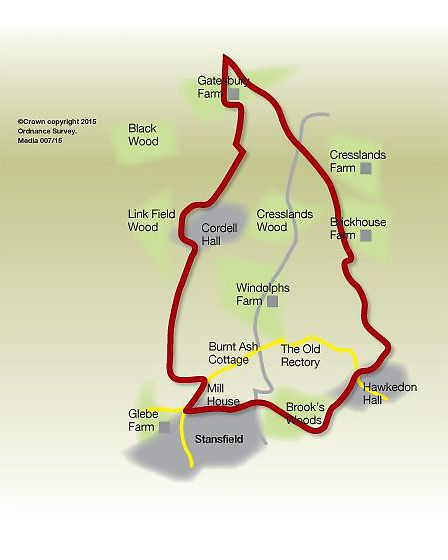 Route of the Stansfield walk