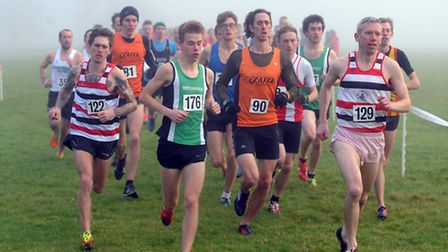 The fog descends as the senior men get into their stride at the Suffolk County Championships in Ickw
