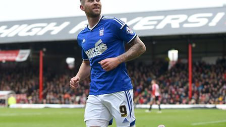 Daryl Murphy celebrates scoring his second at Brentford on Boxing Day