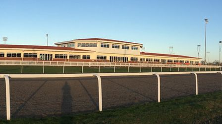 New grandstand taken from the race track