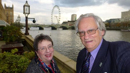 Richard Brown and Carol Baker, chairman and vice-chairman of the East of England branch of the Chart