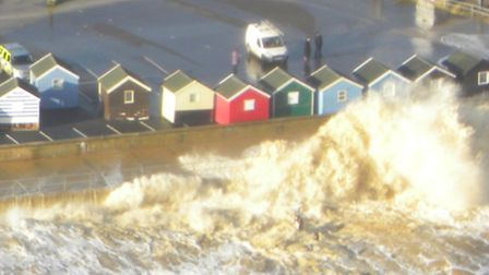 Flooding caused by the storm surge in December 2013