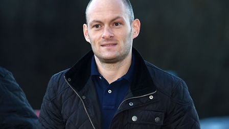 Alex Neil arrives at the Hamilton stadium ahead of a meeting with his players.