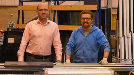 Justin Seldis, managing director, and James Boughton, technical director, of Sunsquare, based in Bur