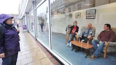 The Windows Project launches at the former Co-op building in Carr Street, Ipswich - now Age UK Suffo