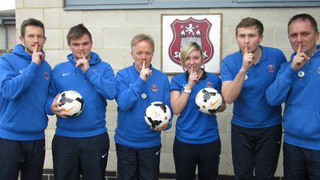 Suffolk FA launches the 'Silent Weekend', pictured left to right, development manager Nathan French