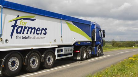 The new ForFarmers branding on one of its lorries operating in the UK.