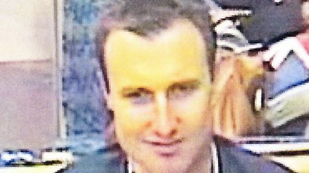 British Transport Police want to speak to this man in connection with an assault on a Colchester Goo