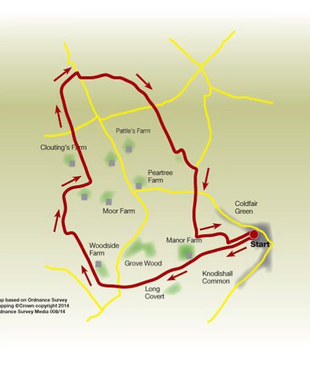 Route of the Knodishall walk