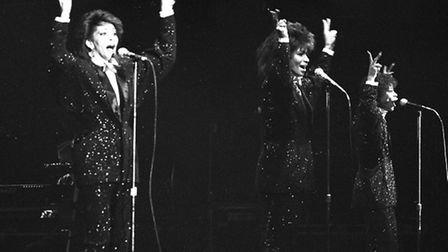 The Three Degrees performing at the Ipswich Regent in 1985
