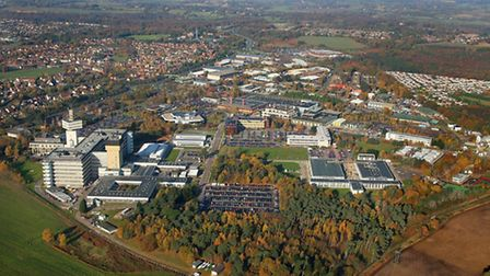 Martlesham Heath and Adastral Park. Aerial photo by Mike Page.