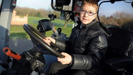 Suffolk Agricultural Association has organised for a tractor to visit Wickham Market Primary School