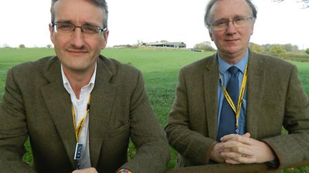 Dr Tony Wilson and Andrew Farley, Easton and Otley College