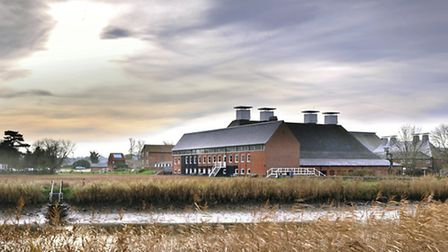 Snape Maltings Concert Hall in winter