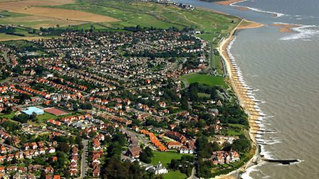 Aerial photo of Felixstowe, by Mike Page