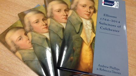 Copies of the book marking the 250th anniversary of law firm Ellisons.