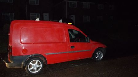 This vehicle was seized after displaying false registration plates and the driver being arrested on