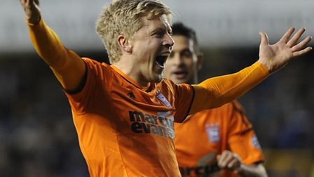 Jonathan Parr celebrates sealing the win at Millwall with the third goal