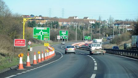 The A12 at Copdock