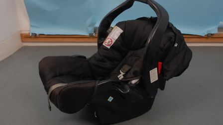 Police want to identify the rightful owner of a baby's car seat that was recovered in Old Road in Cl