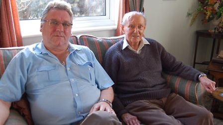 Befriender Bob Self with Frank Norman. 'We spend a lot of time talking together – we don't stop! My