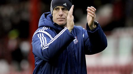 Mick McCarthy at Brentford on Boxing Day