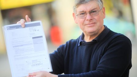 Rob Gray has received a huge electricity bill from Scottish Power.