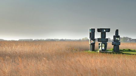 View over the reed beds from Snape Maltings Concert Hall - a new viewing platform could enable touri