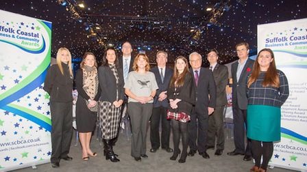 Sponsors and organisers of the 2015 Suffolk Coastal Business and Community Awards