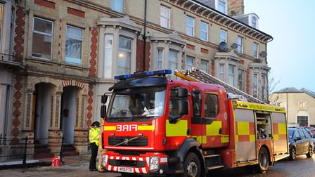 Fire at a flat on the Waterloo Road/Victoria Terrace area of Kirkley. Picture: James Bass
