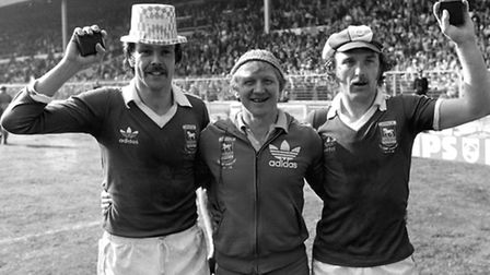 FA Cup 1978 - From left, Allan Hunter, Cyril Lea (first team coach) and Kevin Beattie