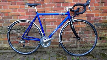 The hand built bike which anyone who signs up to the Diss Cyclathon before Tuesday, May1, could be i