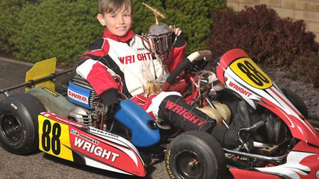 Nine-year-old Ben Cochran, who has hoping to emulate Formula One favourite Lewis Hamilton in the fut