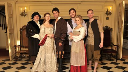 The cast of the Red Rose Chain production of Progress at Christchurch Mansion in Ipswich.L-R David R