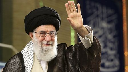 In this picture released by official website of the office of the Iranian supreme leader, Supreme Le