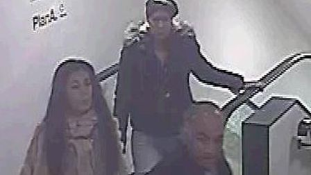 The CCTV image police have released of three people they are keen to identify in connection with a d