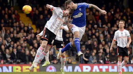 Daryl Murphy scores his first goal at Craven Cottage on Saturday, breaking his nose in the process