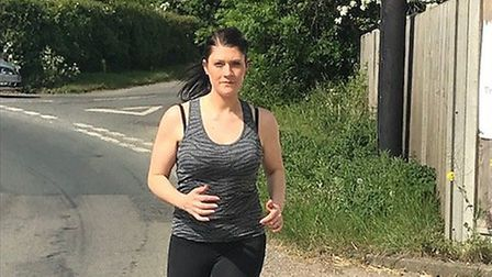 Louise Sanders, who is running 20 miles to raise money for the East Anglian Children's Hospice. Pict