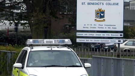 The incident happened near St Benedicts School Pic:NICK STRUGNELL